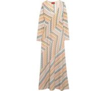 Metallic jacquard-knit maxi dress