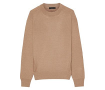 Paneled wool, silk and cashmere-blend sweater