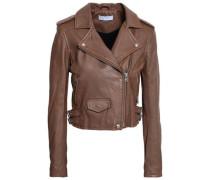 Ashville Brushed-leather Biker Jacket Light Brown