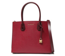 Woman Snake-effect Pebbled-leather Tote Merlot