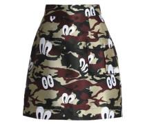 Printed twill mini skirt