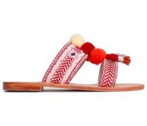 Koshi Embellished Suede Sandals Red