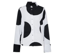 Polka-dot cotton-poplin shirt