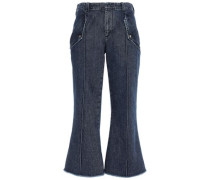 High-rise Kick-flare Jeans Dark Denim