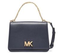 Swag Logo-embellished Leather Shoulder Bag Navy Size --