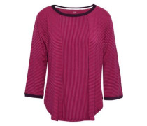 Striped Knitted Pajama Top Magenta