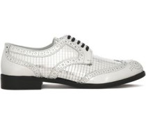 Mirrored-leather brogues