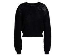 Pointelle-knit wool sweater