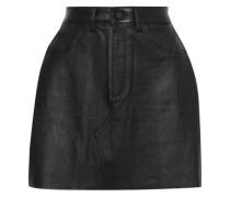 Gilroy Leather Mini Skirt Black  6