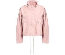 Cropped Cotton-blend Jacket Pastel Pink Size 0