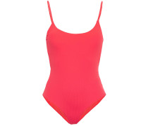 Woman Gabriella Ribbed Swimsuit Tomato Red