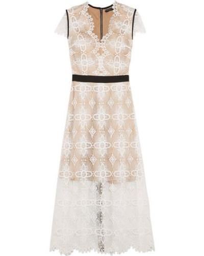 Garland guipure lace midi dress