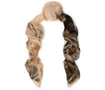 Printed linen-gauze scarf