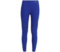 Printed Stretch Leggings Royal Blue