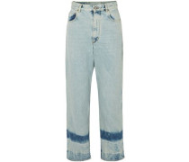 High-rise Straight-leg Jeans Light Denim  4