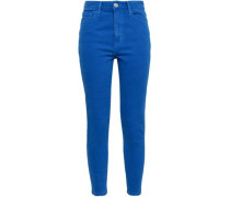 The Ultra High Waist Cropped High-rise Skinny Jeans Bright Blue  3