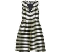 Adelis Striped Satin-jacquard Dress Ivory