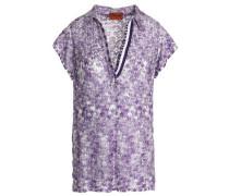Crochet-knit T-shirt