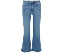 Lou High-rise Flared Jeans Mid Denim  7