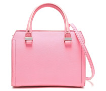 Woman Two-tone Textured-leather Shoulder Bag Pink