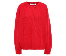Woman Equisse Ribbed Wool Sweater Red