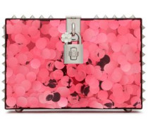 Embellished Acrylic Box Clutch Pink Size --