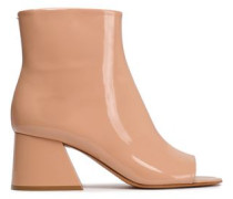 Patent-leather Ankle Boots Peach
