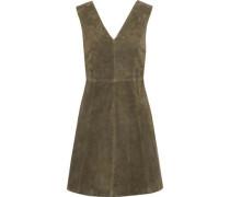 Handley Suede Mini Dress Army Green