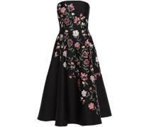 Woman Madison Avenue Lilliane Strapless Embroidered Cady Midi Dress Black