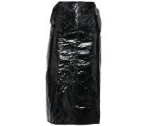 Crushed Vinyl Skirt Black