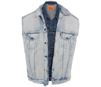Layered denim vest