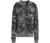 Printed jersey hooded sweatshirt