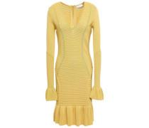 Woman Ionian Ribbed-knit Mini Dress Pastel Yellow