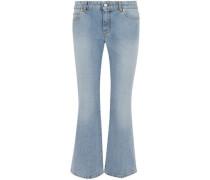 Mid-rise Kick-flare Jeans Light Denim
