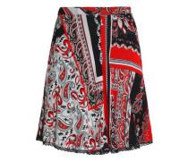 Printed crepe mini skirt