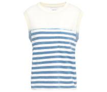 Woman Striped Cotton-jersey Top White