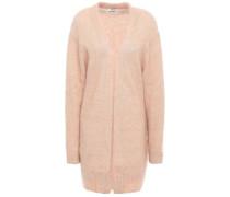 Mélange Brushed-knitted Cardigan Blush