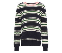 Striped Cotton Sweater Navy