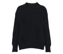 Chunky-knit cotton-blend sweater