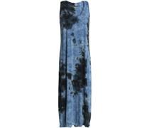 Tie-dyed stretch-jersey midi dress