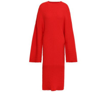 Nadi Ribbed-knit Dress Red