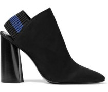 Drum Suede Slingback Ankle Boots Black