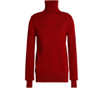 Cutout merino wool turtleneck sweater