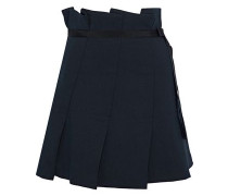 Yacin pleated twill mini skirt