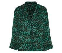 Jude leopard-print satin pajama top