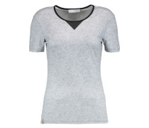 Perforated stretch-knit tank
