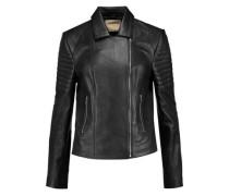 Mercer paneled leather biker jacket