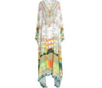 Embellished Silk Maxi Dress Light Green Size ONESIZE