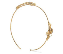 Gold-tone and crystal headband