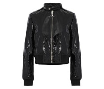Nixon patent-leather bomber jacket